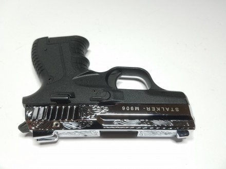 Продаю стартовые пистолеты Stalker 906 Shiny Chrome Plating Engraved Производит. Киев, Киевская область. фото 4