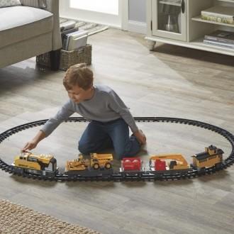 Игрушка Железная дорога с машинками CAT. Мирноград (Димитров). фото 1