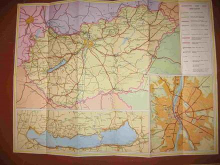 Туристическая карта Венгрии. Харьков. фото 1