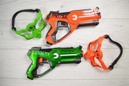 Хит! Пистолеты бластеры Лазертаг Laser Tag и 2 коcмо мacки + 2 пoдapкa. Киев. фото 1
