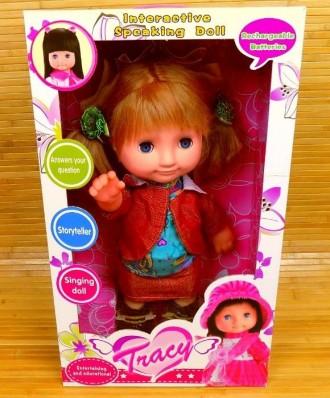 Интерактивная кукла Оля с мимикой 50 фраз, 5 стихов, 5 сказок 400мм. Днепр. фото 1