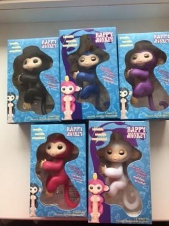 Интерактивная ручная обезьянка Happy Monkey. Черкассы. фото 1