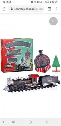 Железная дорога «Мой первый паровоз» с дымом. Днепр. фото 1