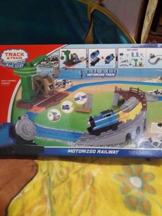 Спешите порадовать ребенка !Железная дорога ,большой трек с паравозом. Южноукраинск. фото 1
