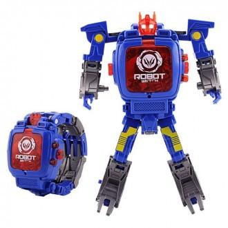 Часы робот трансформер игрушка 2 в 1 для детей. Киев. фото 1