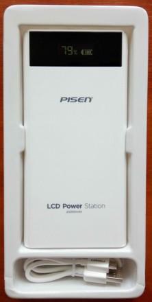 Внешний аккумулятор Power bank Pisen 20000 mAh ORIGINAL 100%. Модель TS-D199 с ж. Запорожье, Запорожская область. фото 3