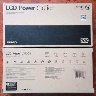 Внешний аккумулятор Power bank Pisen 20000 mAh ORIGINAL 100%. Модель TS-D199 с ж. Запорожье, Запорожская область. фото 9