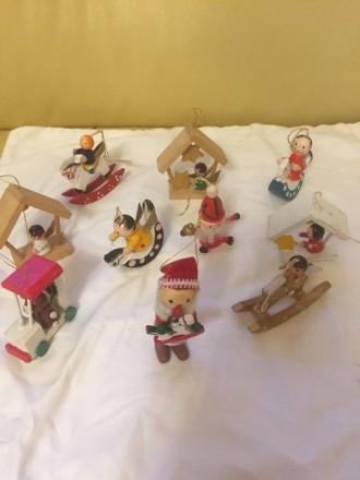 Новорічні іграшки, декор.Набір іграшок.( Німеччина). Ручної роботи.. Луцк. фото 1