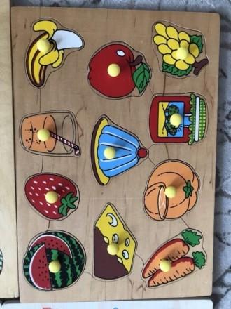 Пазл вкладыш фрукты. Вышгород. фото 1
