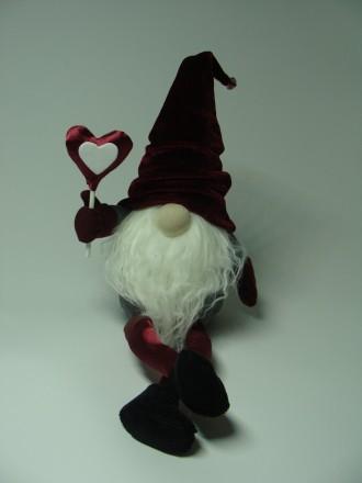 Интерьерная текстильная игрушка гномик ручной работы на подарок. Черкаси. фото 1