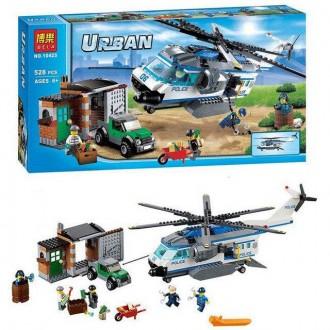 Бела Сити 10423 конструктор Bela Urban City Вертолетный патруль аналог Лего. Хмельницкий. фото 1