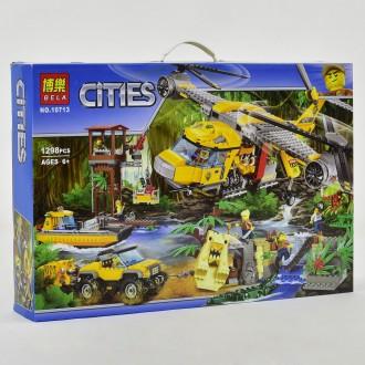 Бела Сити конструктор 10713 Bela Cities Вертолет для доставки в джунгли. Хмельницкий. фото 1