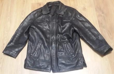 Кожаная куртка с подстежкой. Sam Fun. Размер 52. Одесса. фото 1