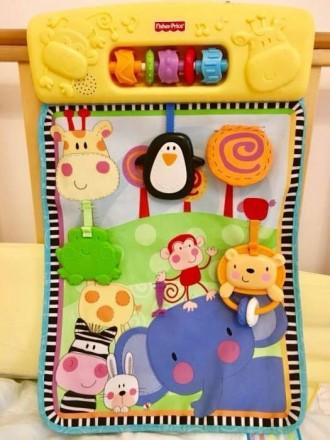 Музыкальная игрушка, развивающий коврик Fisher-Price с рождения. Ирпень. фото 1