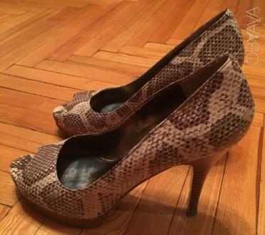 Туфли NINE WEST (америк бренд), кожа, 38 р,  под змеиную кожу. Киев. фото 1