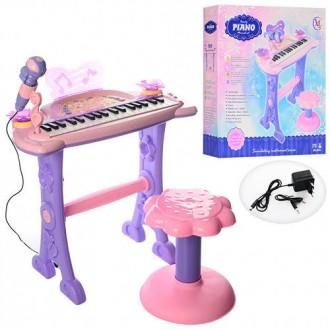 Детское пианино-синтезаторсо стульчиком от сети. Сумы. фото 1