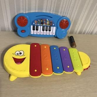 Детское пианино собачий патруль Ксилофон Игрушечное пианино Синтезатор. Лозовая. фото 1