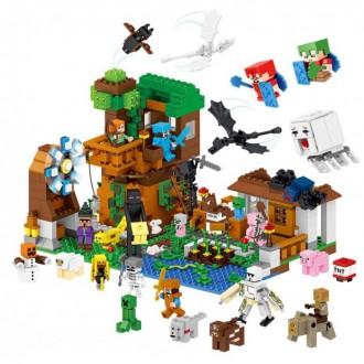 Леле Майнкрафт 33163 Гора персонажей дом конструктор Lele Minecraft Would. Хмельницкий. фото 1