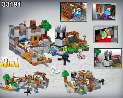 Леле Майнкрафт33191 водная застава конструктор Lele Minecraft Would. Хмельницкий. фото 1
