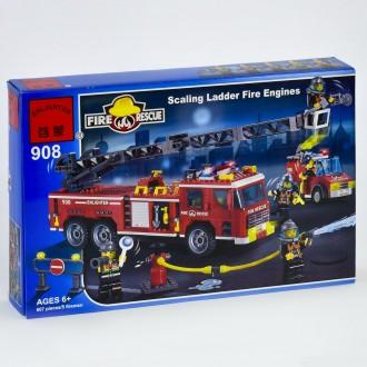 Брик 908Пожарная техника машина конструктор Brick Enlighten Fire Rescue. Хмельницкий. фото 1