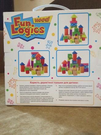 Деревянный конструктор из серии Fun Logics от торговой марки Fun Game (33 элемен. Запорожье, Запорожская область. фото 3