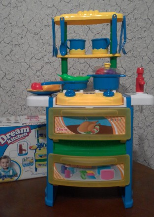 Детская кухня со свето-звуковыми эффектами+течет вода. Раздельная. фото 1