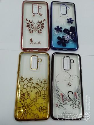 Чехол сo стразами Samsung A6 A7 J2 J3 J4 J6 J8 Xiaomi Mi8 Redmi 5 Plus Redmi 6a