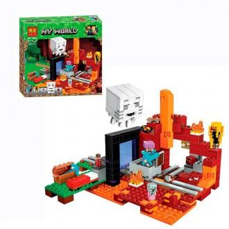 Бела Майкрофт 10812 конструктор Bela Minecraft My Worl портал в нижнижний мир. Хмельницкий. фото 1