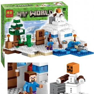 Бела Майкрофт 10391 конструктор Снежное убежищеBela Minecraft My World. Хмельницкий. фото 1