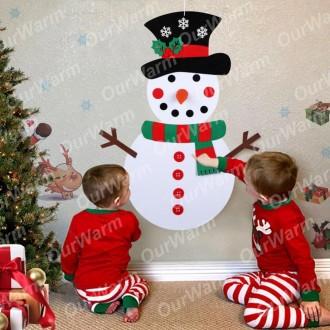 Большой новогодний снеговик на липучках.. Сумы. фото 1