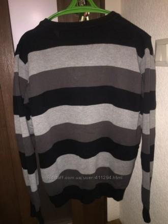 Чоловіча кофта пуловер светр, сіра в широку полоску, в гарному стані, Madoc jean. Луцк, Волынская область. фото 4
