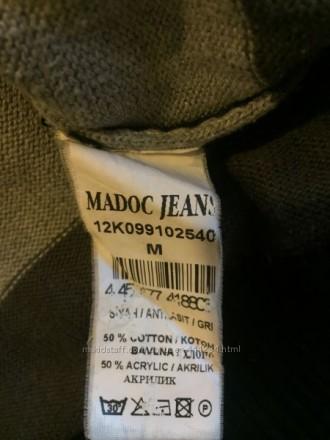 Чоловіча кофта пуловер светр, сіра в широку полоску, в гарному стані, Madoc jean. Луцк, Волынская область. фото 3