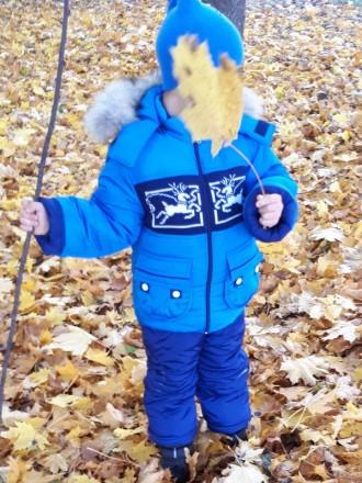 Детский зимний комбинезон для мальчика выдерживает температурный режим до -25 гр. Киев, Киевская область. фото 3