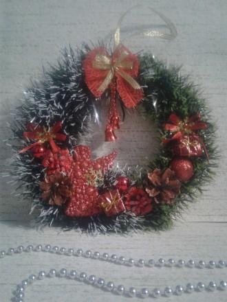 Вінок різдвяний/новорічний декор/подарунок. Полтава. фото 1