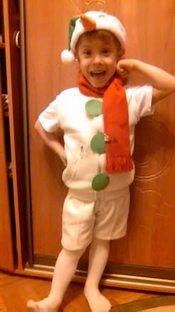 Снеговик Костюм на прокат 3-5 лет. Одесса. фото 1