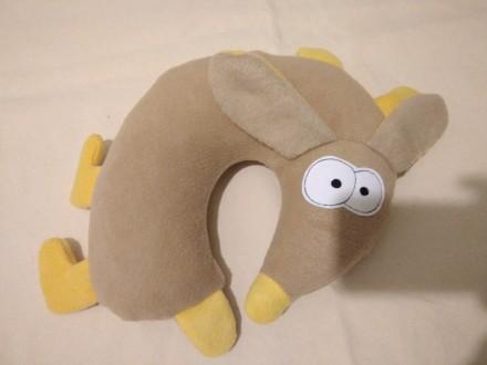 Подушка под шею Кремовая Собачка. Запорожье. фото 1