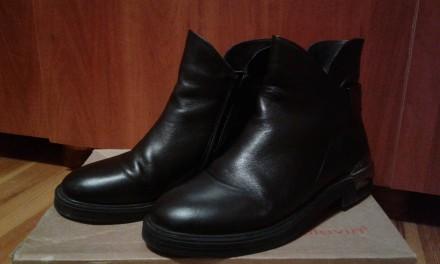 Осінньо весняні шкіряні черевички. 39розмір.. Львов. фото 1