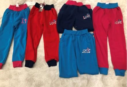 Спортивні штани на дівчинку утеплені. Львов. фото 1