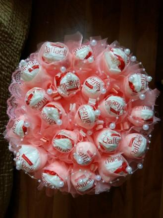 Букет из клубники, фруктов, конфет, сладостей, зефира. Днепр. фото 1