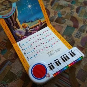 Книжка-пианино. Книга с нотами и песнями на картоне.. Ирпень. фото 1