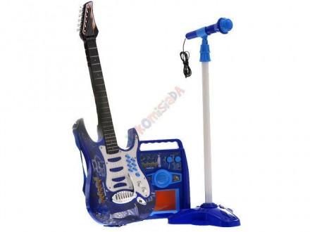Детская електро гитара+микрофон+усилитель. Нововолынск. фото 1