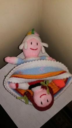 Продам вязаную куклу 2 в 1. подойдёт для кукольного театра. Марганец. фото 1