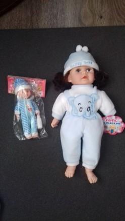 Лялька пупс-сміхотун (маленький пупс в подарунок). Кагарлык. фото 1