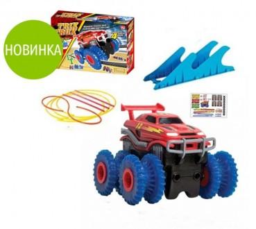 Машинка Trix Trux с гибкой трассой и трамплином ,,Волна,,. Вышгород. фото 1