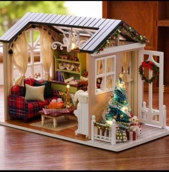 Кукольный дом в миниатюре ( рождественский). Измаил. фото 1