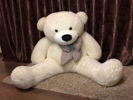 Большой плюшевый мишка (Великий плюшевий ведмедик) 75 см. сидя. Сторожинец. фото 1