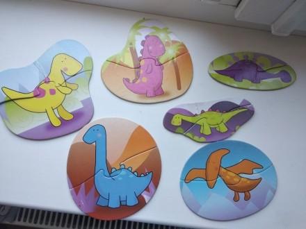 Пазлы динозавры. Ирпень. фото 1
