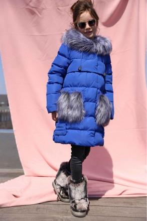 Пуховик теплый зимний Полианна NUI VERY, р-ры 116 -158. Новомосковск. фото 1