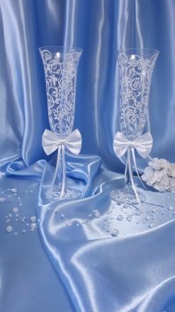 Вашему вниманию ручная роспись свадебных бокалов. краски использую только качес. Вышгород, Киевская область. фото 6
