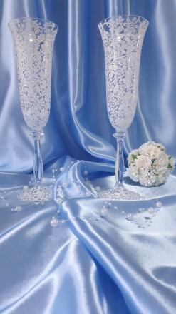 Вашему вниманию ручная роспись свадебных бокалов. краски использую только качес. Вышгород, Киевская область. фото 2